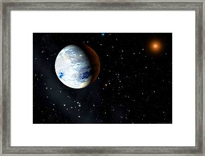 Eta Cassiopeiae Planet Framed Print by Chris Butler