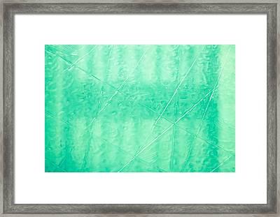 Etched Glass Framed Print