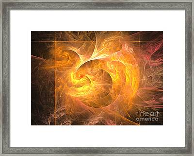 Eternal Flame - Abstract Digital Art Framed Print by Sipo Liimatainen