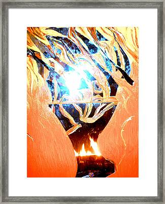 Eternal Torch Framed Print by Tyler Schmeling