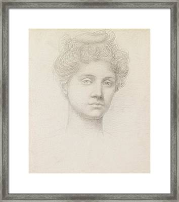 Ethel Pickering Framed Print by Evelyn De Morgan