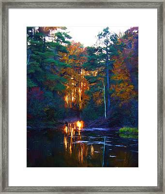 Ethereal Changing Light Framed Print