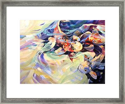 Framed Print featuring the painting Ethereal Koi 2 by Rae Andrews