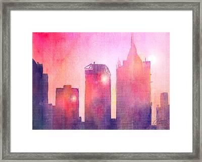 Ethereal Skyline Framed Print by Arline Wagner