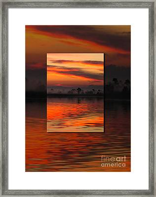 Ethereal Sunrise In Sunrise Framed Print by Judee Stalmack