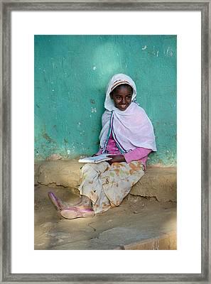 Ethiopia-south School Girl Framed Print