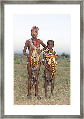 Ethiopia-south Sisters Framed Print by Robert SORENSEN