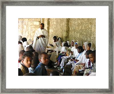 Ethiopian Orthodox Teachings Framed Print by Cherie Richardson