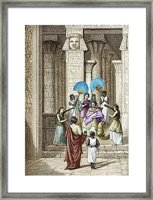 Euclid And Ptolemy Soter, King Of Egypt Framed Print by Sheila Terry