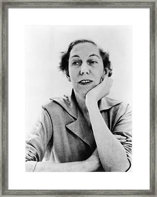 Eudora Welty 1909-2001, American Framed Print by Everett