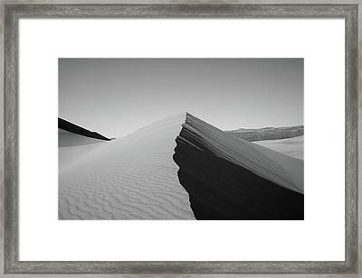 Eureka Dunes, Death Valley National Park Framed Print by Gary Koutsoubis