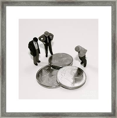 Euro Crisis Framed Print by Louise Fahy