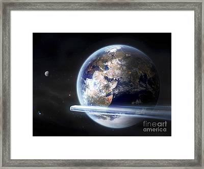 Europe Is Burning In War, Climate Framed Print by Tobias Roetsch