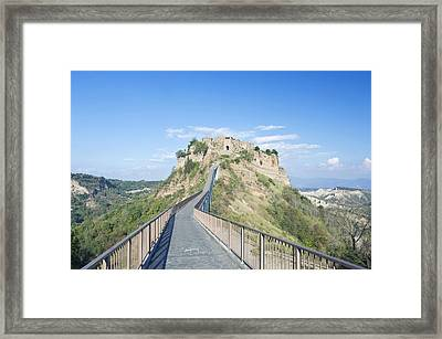 Europe Italy Umbria Civita Bridge Framed Print by Rob Tilley