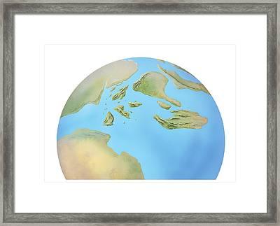 Europe, Late Jurassic Period, Artwork Framed Print by Gary Hincks
