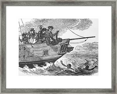 European Sailors Throwing African Framed Print by Everett
