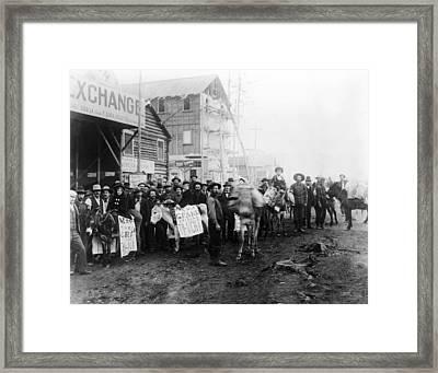 Ev1801-gold Rush Town, Dawson City Framed Print