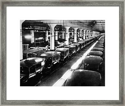 Ev1803 - Early Ford Motor Company Framed Print by Everett