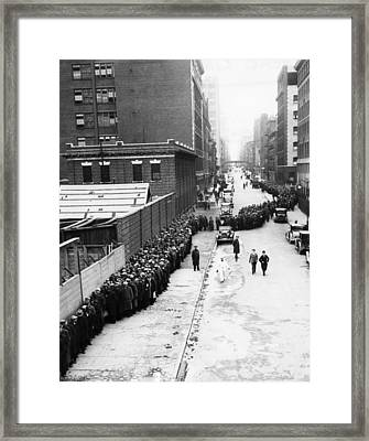 Ev1807 - Men On A Bread Line Framed Print