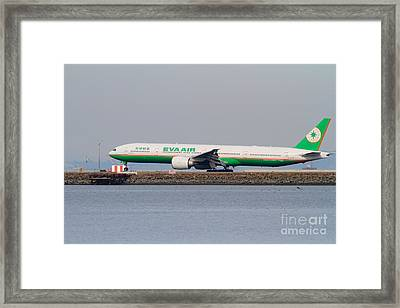 Eva Airways Jet Airplane At San Francisco International Airport Sfo . 7d12260 Framed Print by Wingsdomain Art and Photography