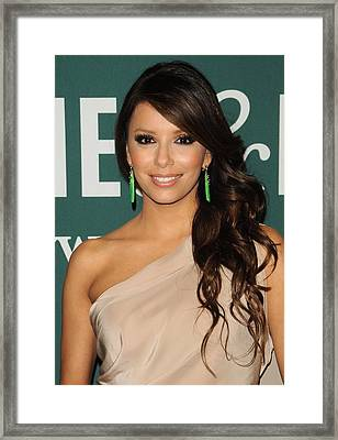 Eva Longoria At In-store Appearance Framed Print by Everett