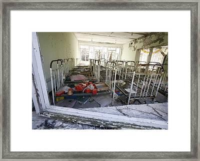 Evacuated Kindergarten Near Chernobyl Framed Print by Ria Novosti