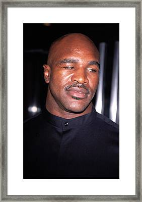 Evander Holyfield At Premier Of In Too Framed Print by Everett
