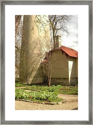 Evanston Illinois Lighthouse In Spring Framed Print by Jennifer Holcombe