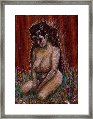 Eve In Her Garden Framed Print by Mani Price