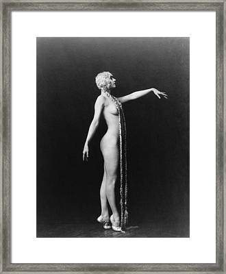 Evelyn Groues, A Ziegfeld Girl Posed Framed Print by Everett
