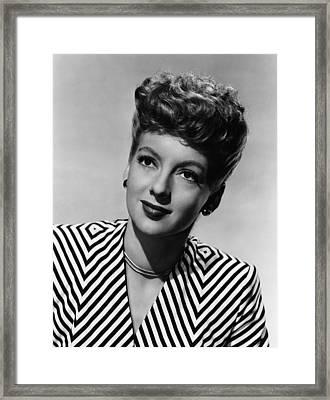 Evelyn Keyes, Ca. Late 1940s Framed Print by Everett