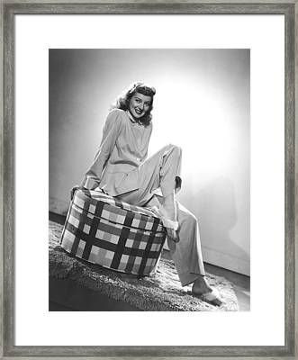 Evelyn Keyes, Mid-1940s Framed Print