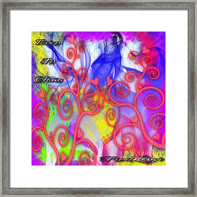 Even In Chaos Find Love Framed Print by Clayton Bruster