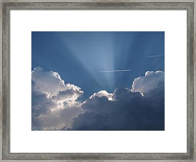 Even Through The Clouds You Will Find A Ray Of Sunshine Framed Print