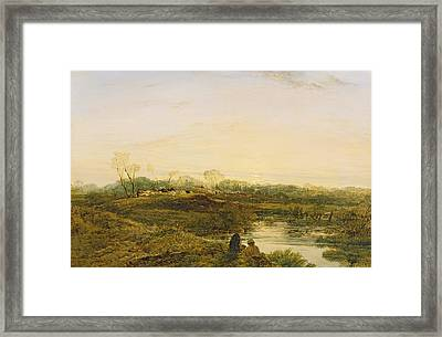 Evening - Bayswater Framed Print by John Linnell