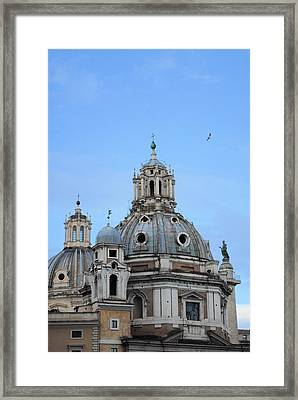 Evening At Church Framed Print by