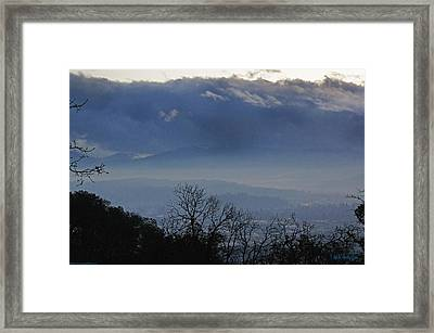 Framed Print featuring the photograph Evening At Grants Pass by Mick Anderson