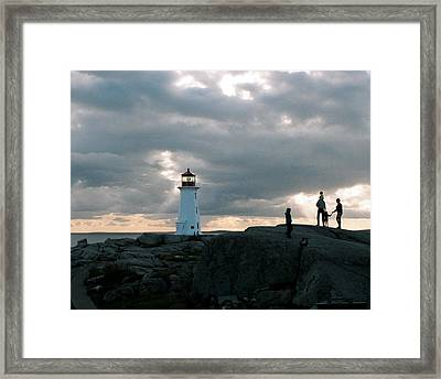 Evening At Peggy's Cove Framed Print by John G Schickler