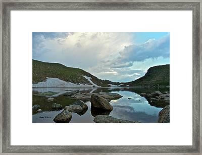 Evening At Summit Lake Framed Print by Stephen  Johnson