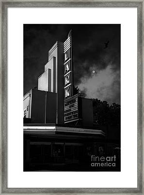Evening At The Lark - Larkspur California - 5d18484 - Black And White Framed Print