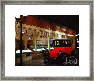 Evening At The Vintage American Car Dealership - 7d17460 Framed Print by Wingsdomain Art and Photography
