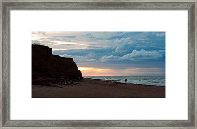 Evening Beach Scene Framed Print by Matt Dobson