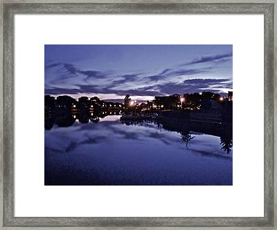 Evening Blues Framed Print by Joe  Burns