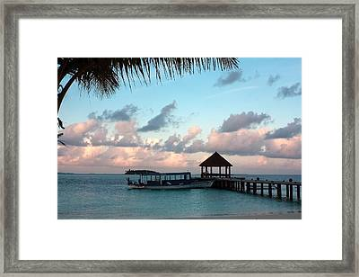 Evening Clouds Framed Print by Shirley Mitchell