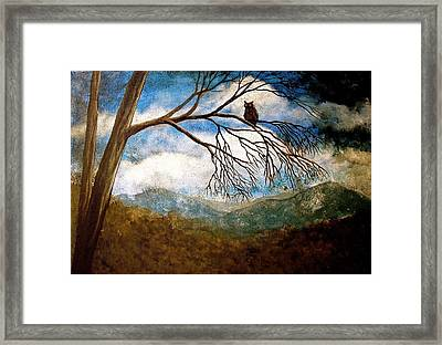 Evening Draws In Framed Print by Heather Matthews
