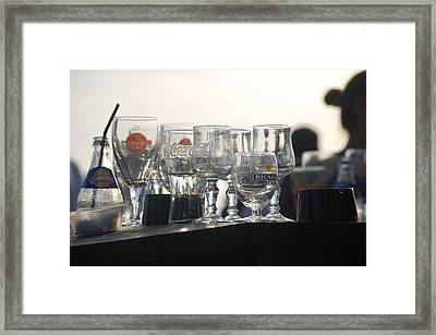 Evening Drinks Framed Print by Dickon Thompson