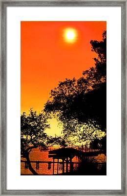 Evening Fire Framed Print by Nicole I Hamilton