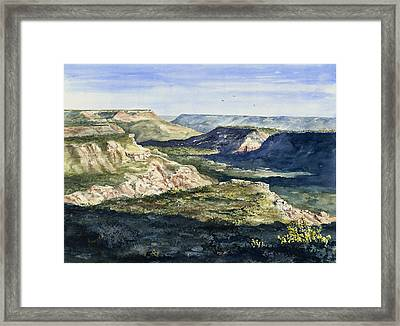 Evening Flight Over Palo Duro Canyon Framed Print