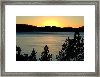 Evening Glow Framed Print by Lynn Bawden