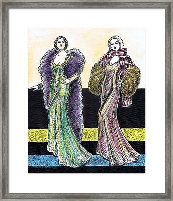 Evening Gowns Framed Print by Mel Thompson